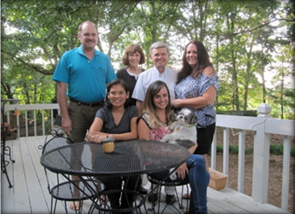 Ron and Gigi Brown with their family in the United States.