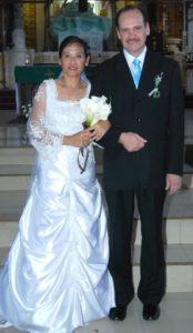 Ron Brown and Gigi Brown wedding photo