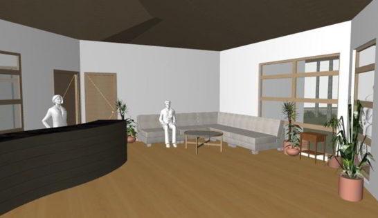 CEA Orphanage reception lounge design.