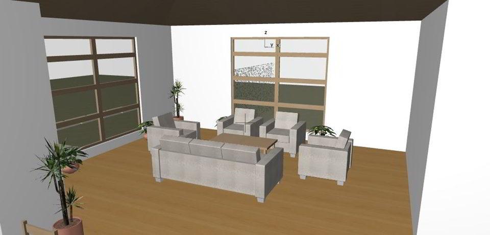 Living area inside children's home.