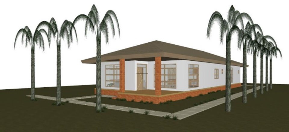 Architect's drawing of a proposed children's home at Casa Esperanza of Angels.