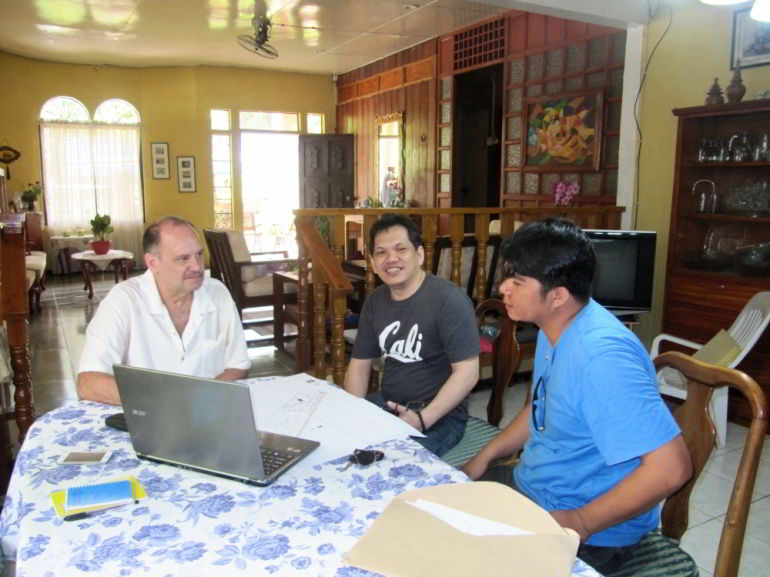 CEA Managing Director Ron Brown with CEA Communications Director Manny Gonot and Architect Rainier Garcia