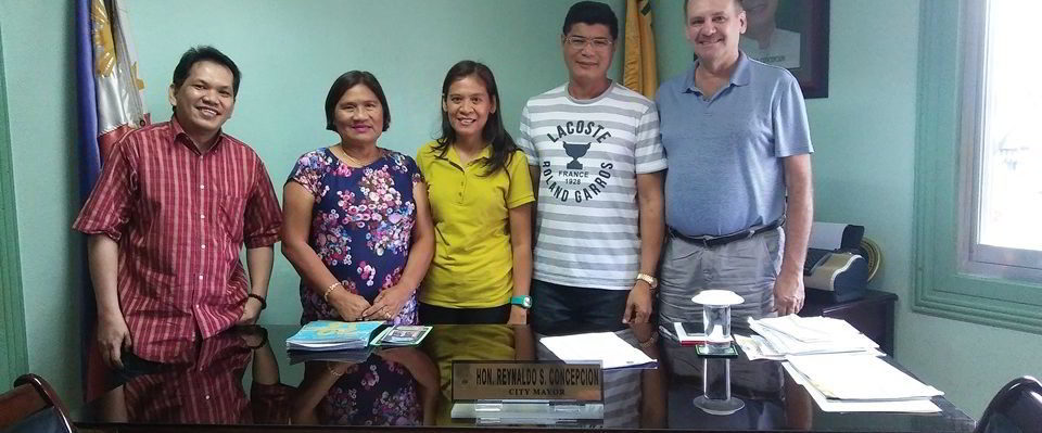 Courtesy call on the Tanjay City Mayor