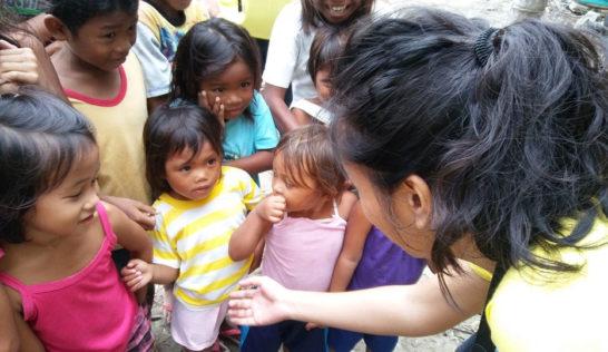 CEA volunteer Vergielyn Cubol at Sitio Baybay