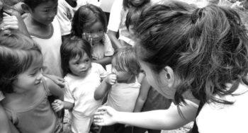 CEA volunteer Vergielyn Cubol at Sitio Baybay.