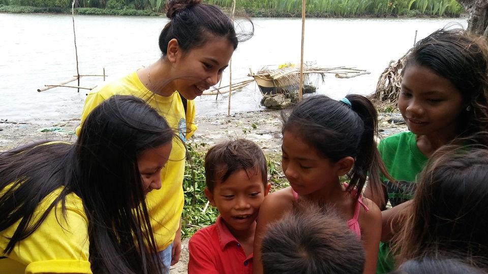 CEA volunteers Marie Concepcion Salatan and Stephanie Bigno