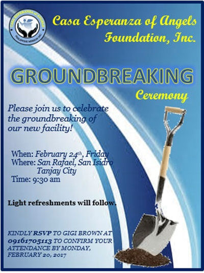 Invitation to Orphanage Facility Groundbreaking