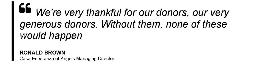 Ron Brown Quote thanking donors