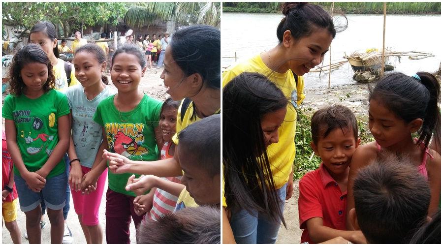CEA Volunteers interacting with Sitio Baybay children.