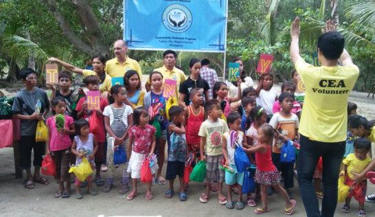 CEA volunteer Arjie Sedillo at Sitio Baybay