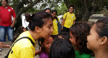 CEA volunteer Concepcion Salatan at Sitio Baybay