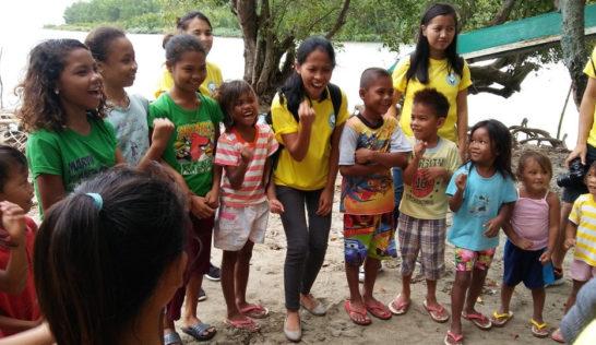 CEA volunteer Liza Marie Ragusta at Sitio Baybay