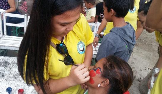 CEA volunteer Rhea Ramirez at Sitio Baybay