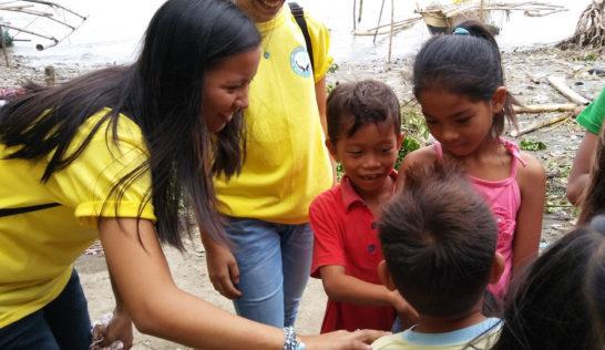 CEA volunteer Stephanie Bigno at Sitio Baybay
