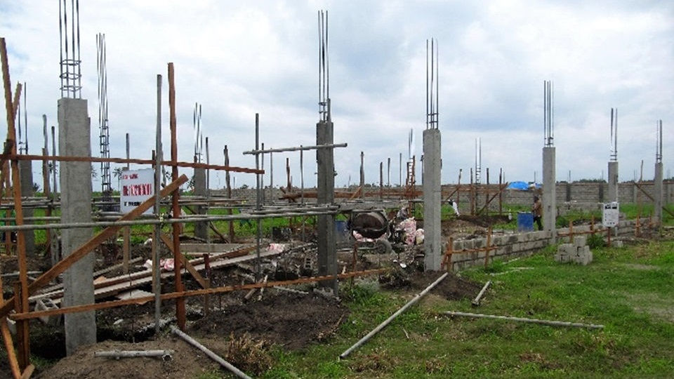 Steel reinforcement installed at children's home