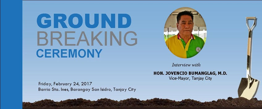 Vice-Mayor Jovencio Bumanglag Groundbreaking Interview