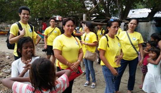 CEA Volunteer Luisita Fabe at Sitio Baybay