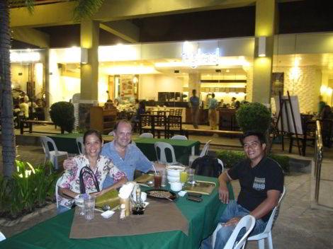 Dinner with board member Elmer Palacio