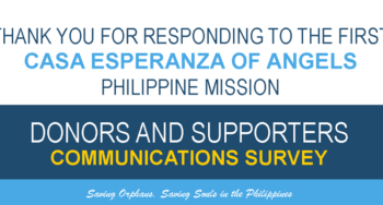 casa esperanza of angels donors survey