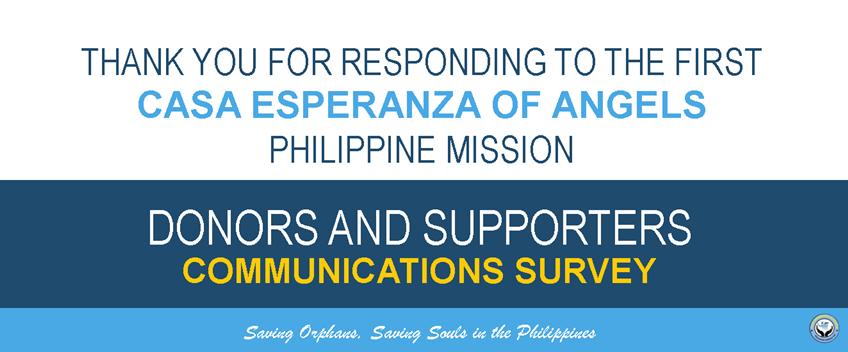 casa esperanza of angels donors survey
