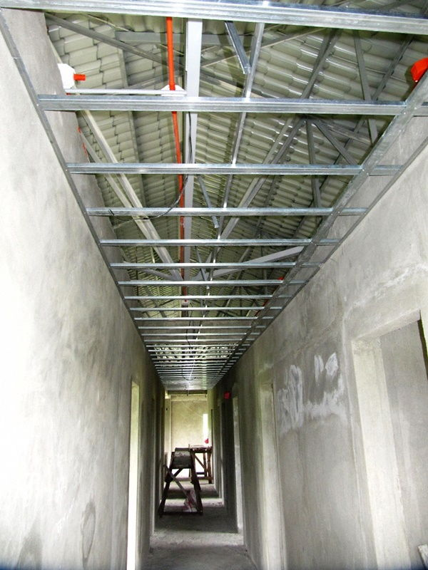 main corridor under construction